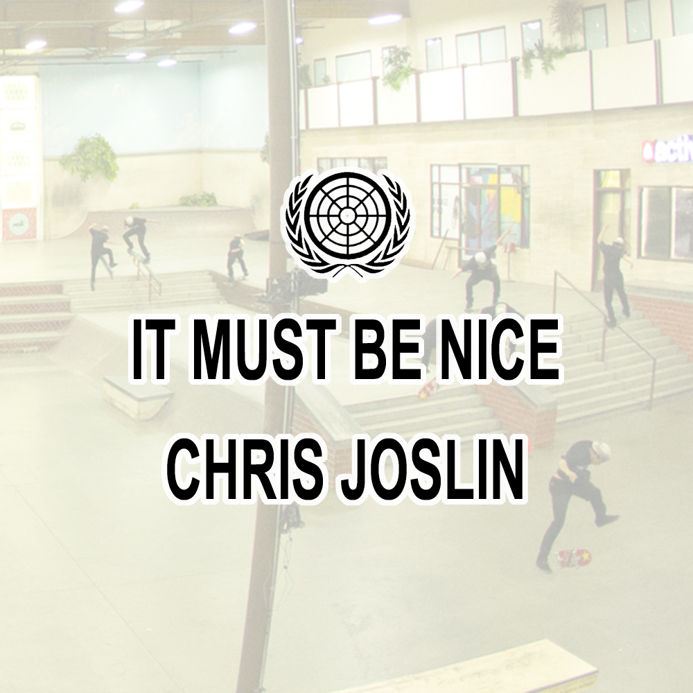 【海外・INFO】CHRIS JOSLIN / IT MUST BE NICE