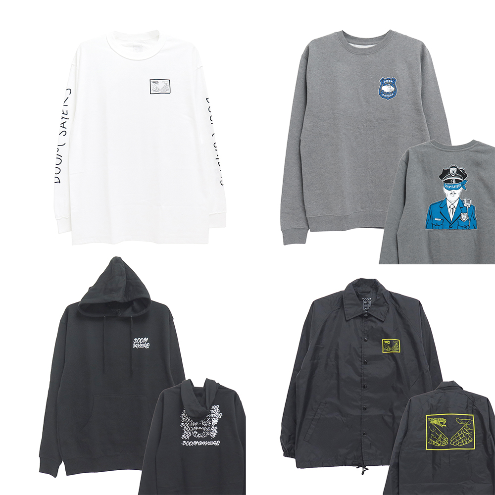 【商品情報】DOOM SAYERS : LS, CREW SWEAT, HOODIE & JACKET