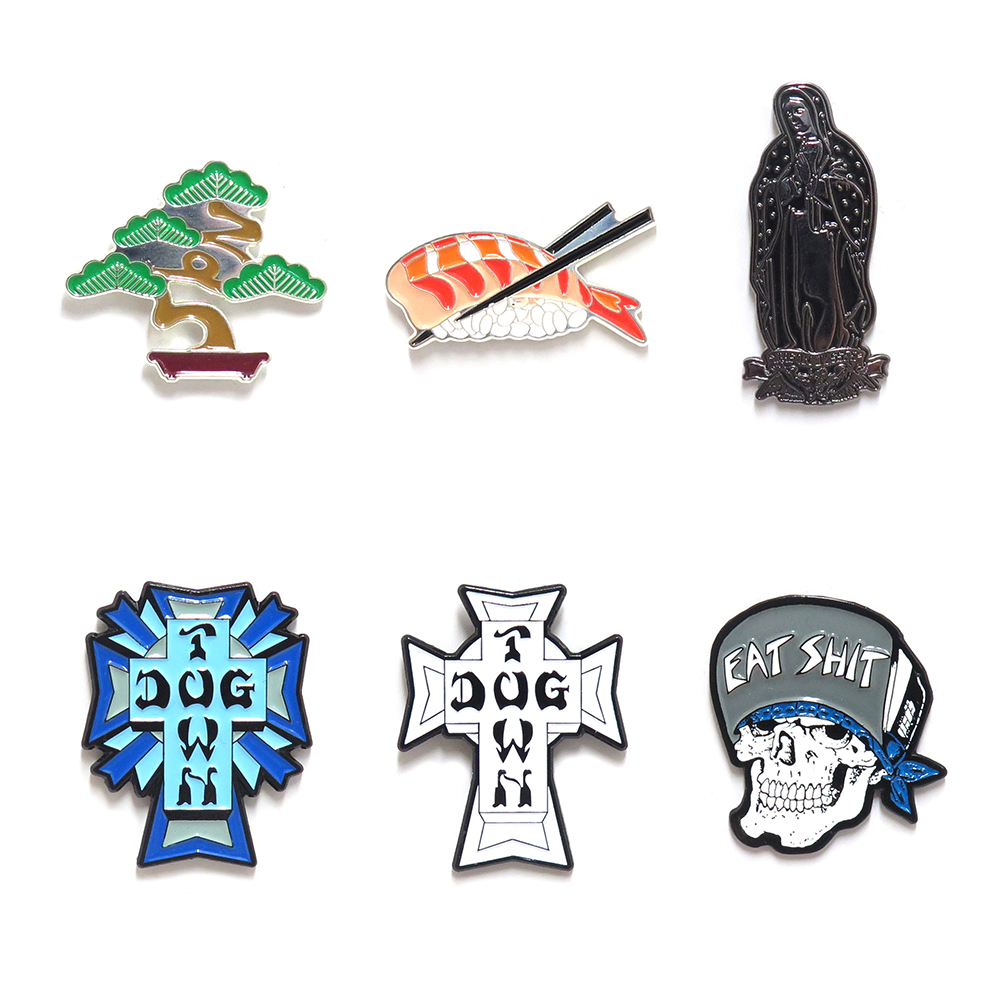 【商品情報】PIN BADGE : EVISEN, DOG TOWN, SANTA CRUZ, etc…