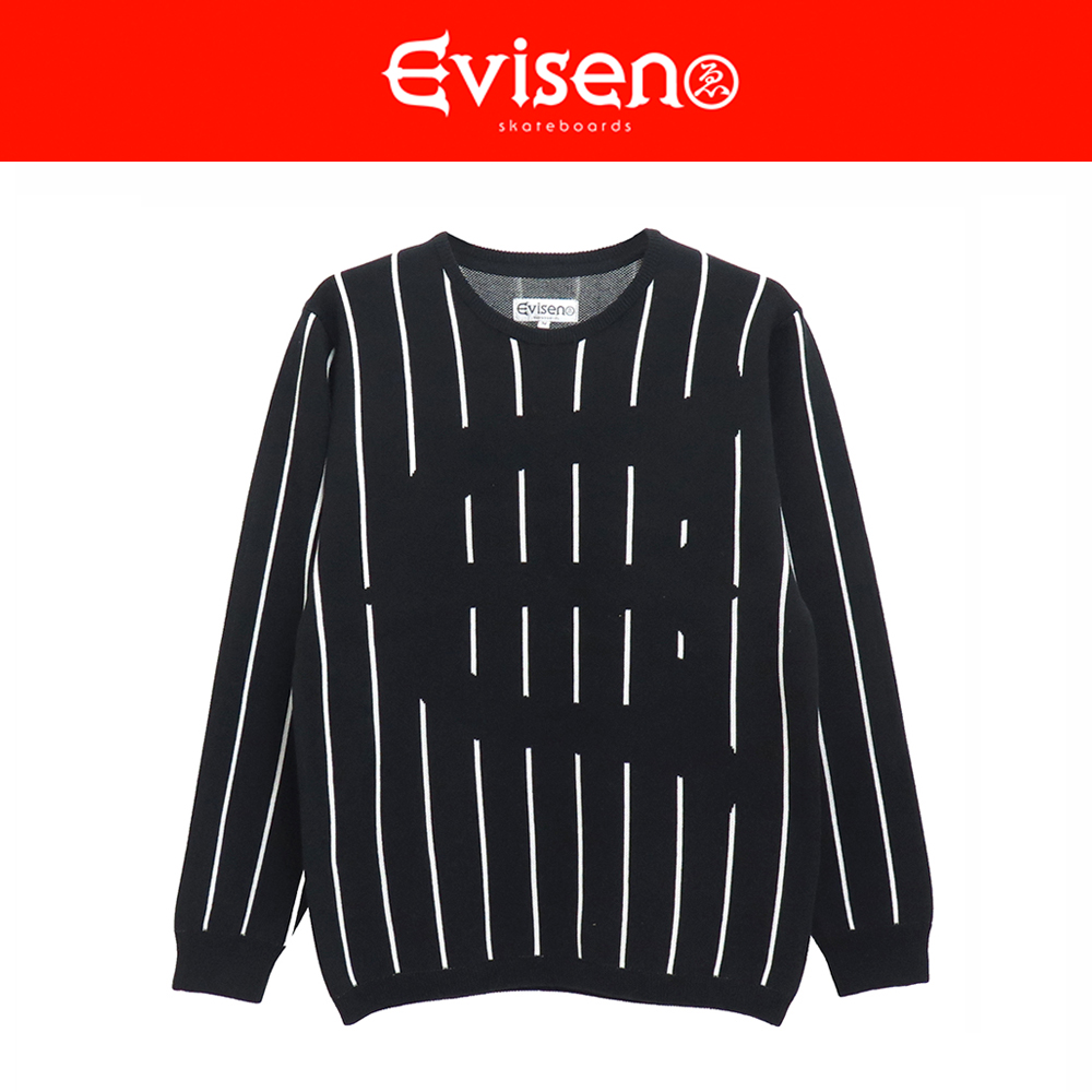 【商品情報】EVISEN SKATEBOARDS : STRIPED E LOGO SWEATER
