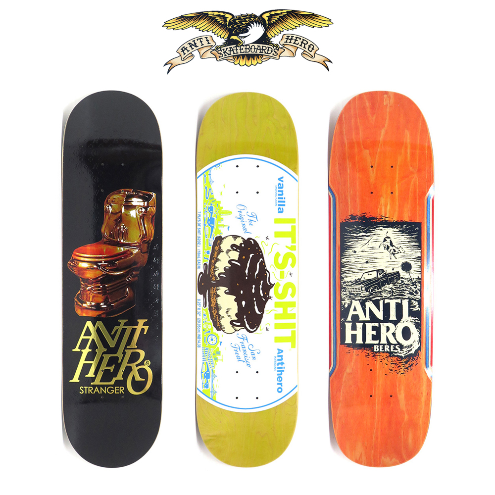 【商品情報】ANTIHERO SKATEBOARDS : IT'S SHIT、HURRICANE、etc…