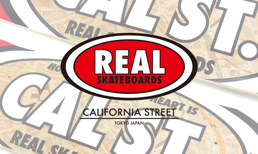 REAL SKATEBOARDS CALIFORNIA STREET COLLABORATION DECK