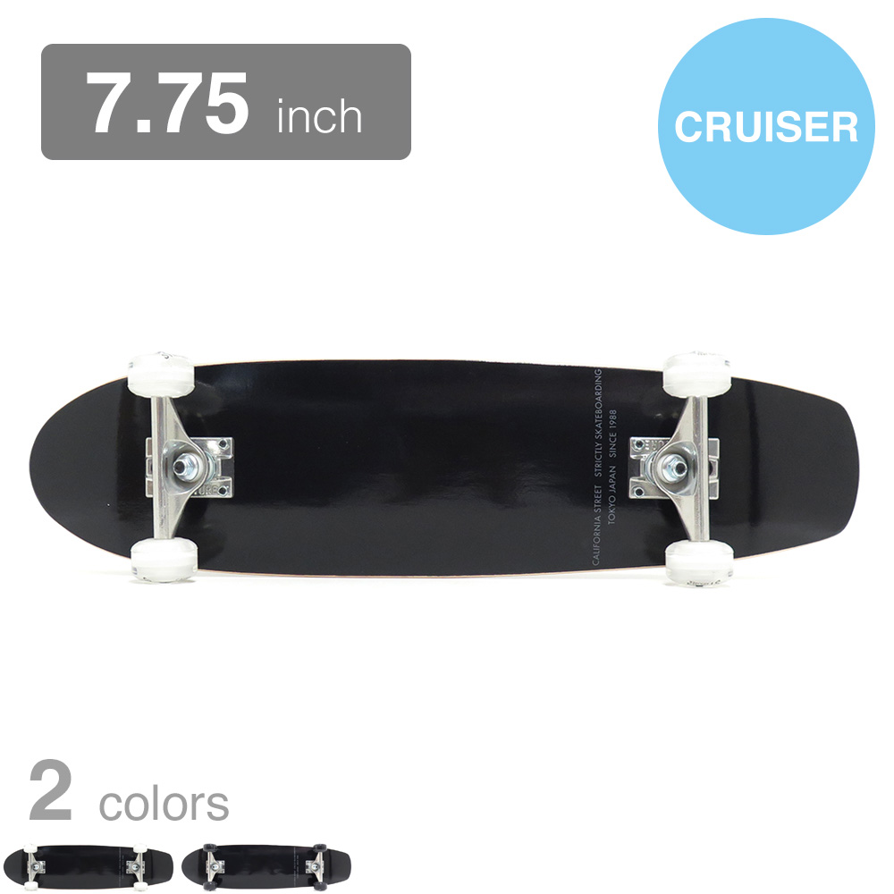 CALIFORNIA STREET コンプリートセット(完成品)SIMPLE BLACK 7.75 CRUISER
