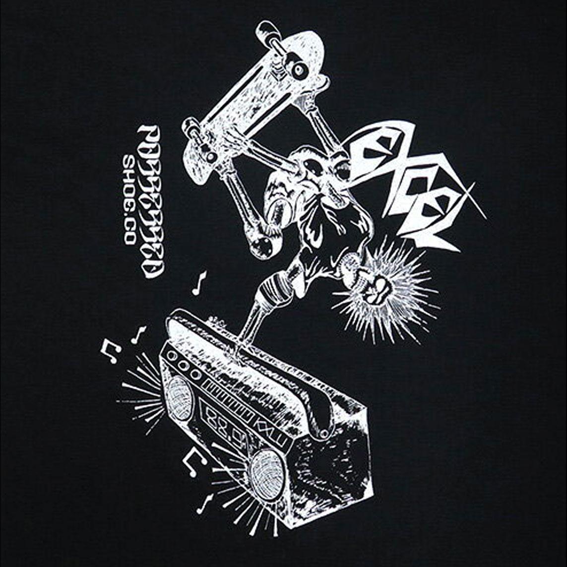 【国内・INFO】POSSESSED SHOES : EXCEL SKATES コラボレーション Tシャツがリリース。スラッシュメタル ファンは必見!