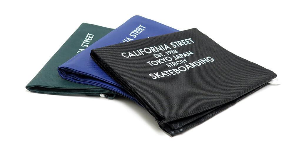 カリフォルニアストリート 不織布スケートバッグ