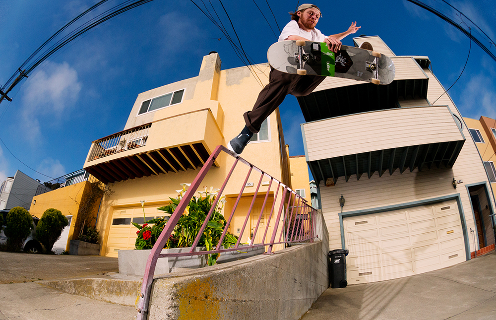 BEN GORE MAGENTA SKATEBOARDS PHOTO