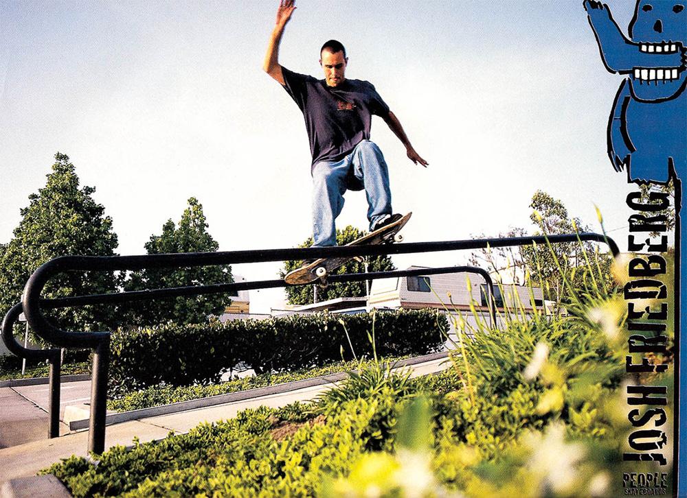 Josh Friedberg People skateboard ad