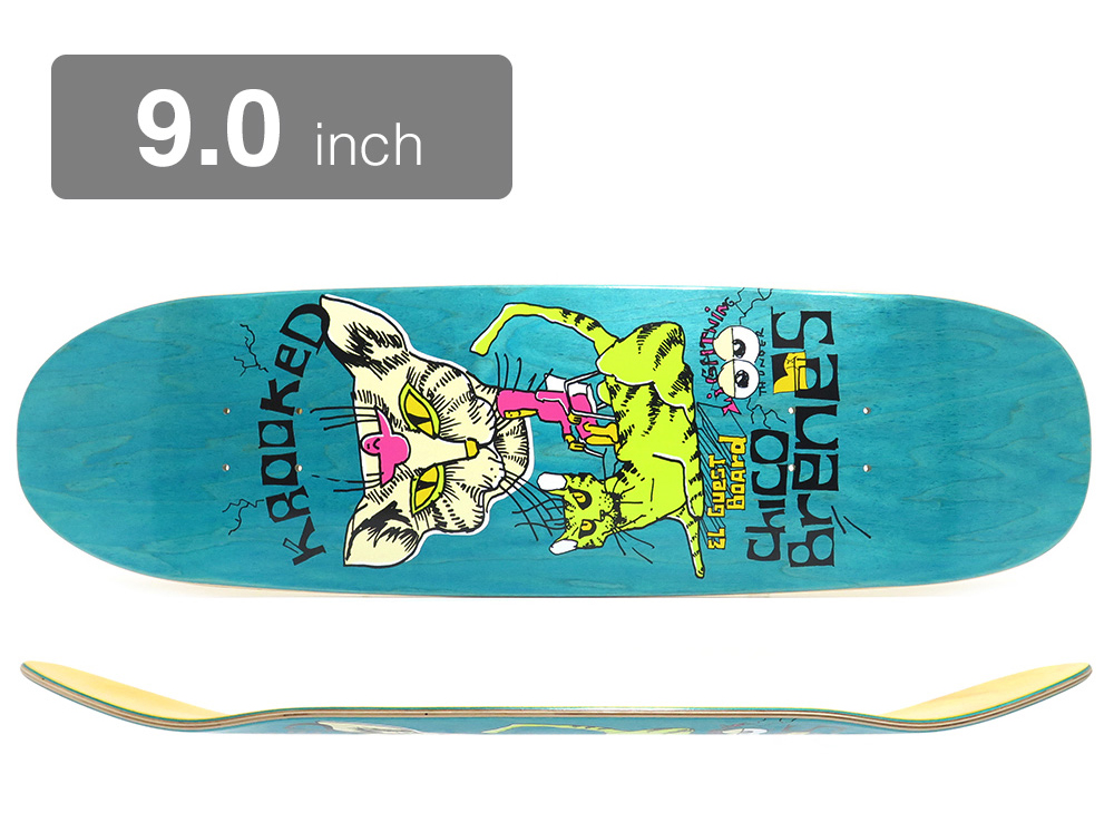 KROOKED SKATEBOARDS, CHICO BRENES 9,0, GUEST BOARD