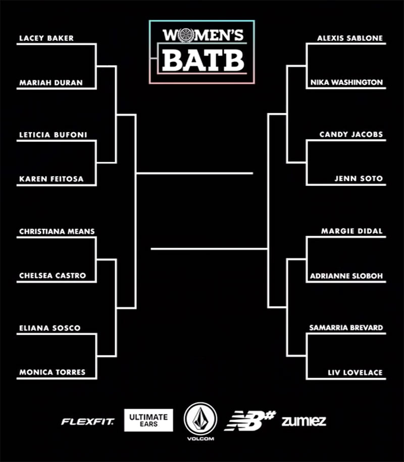 WBATB, WOMEN'S BATTLE AT THE BERRICS, TOURNAMENT