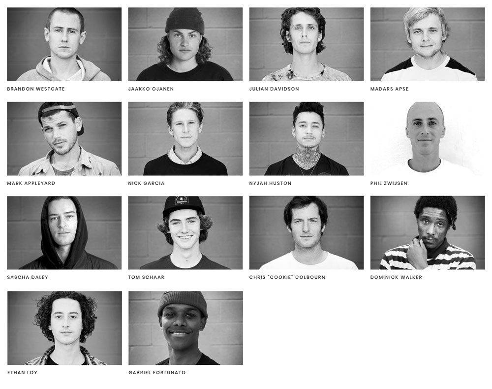 ELEMENT SKATEBOARDS, TEAM
