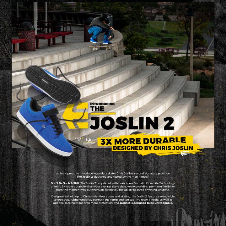 "ETNIES (エトニーズ) 、CHRIS JOSLIN (クリス・ジョスリン) のセカンドモデル ""JOSLIN 2"" リリース動画が公開"