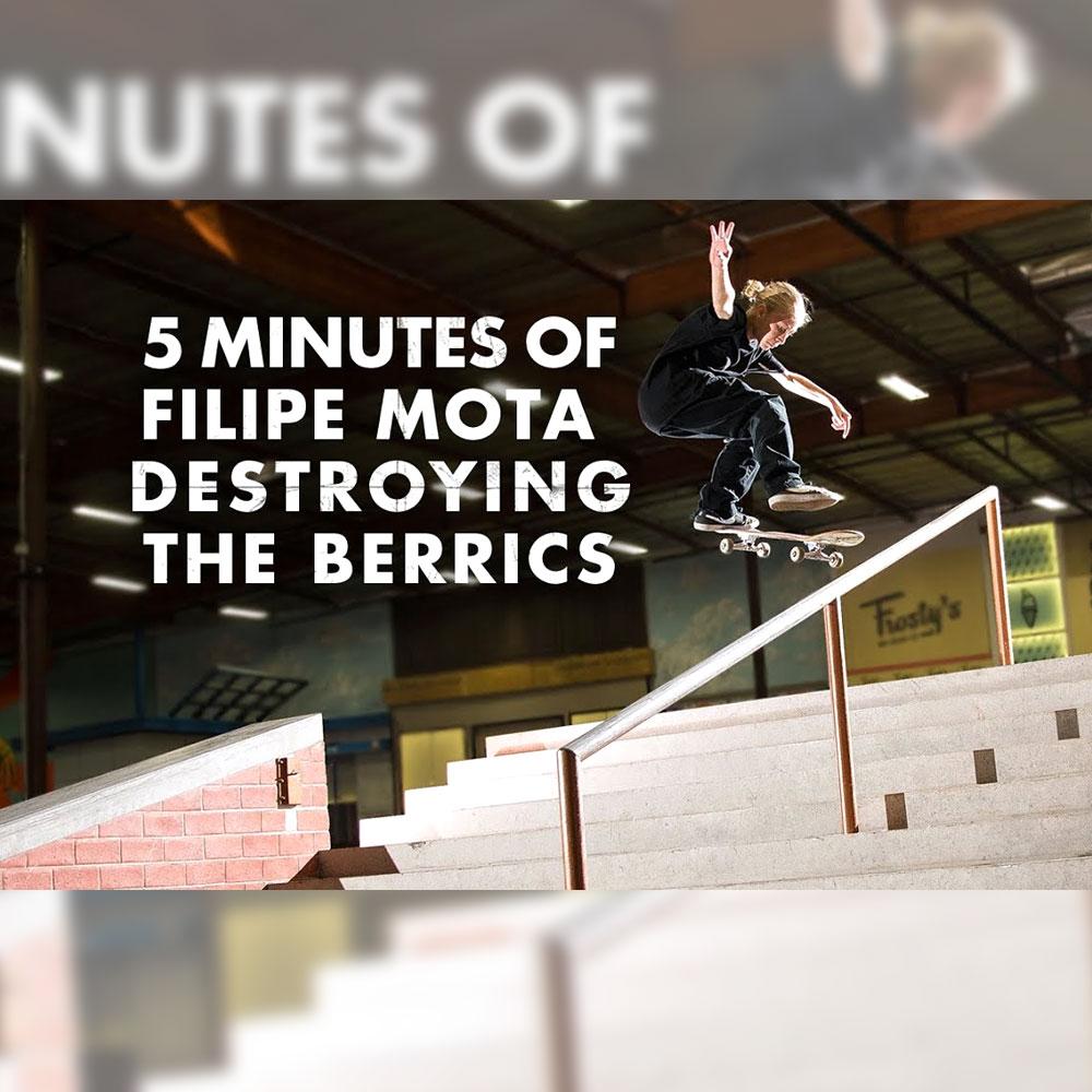 13歳の FILIPE MOTA (フィリッペ・モタ) が、ベリックス スケートパークで収録した5分間の映像が公開