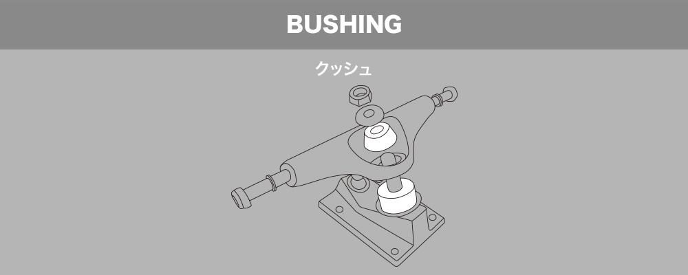 スケートボード(スケボー)初心者の方へ【スケートボードのトラックパーツ名称】BUSHING クッシュ