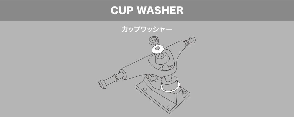 スケートボード(スケボー)初心者の方へ【スケートボードのトラックパーツ名称】CUP WASHER カップワッシャー