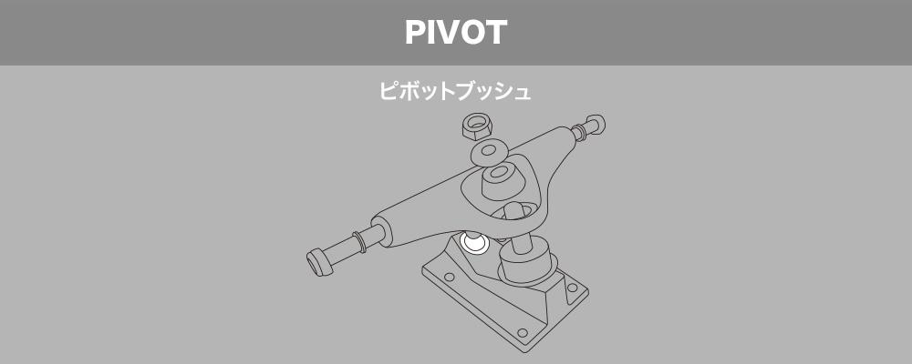 スケートボード(スケボー)初心者の方へ【スケートボードのトラックパーツ名称】PIVOT ピボットブッシュ