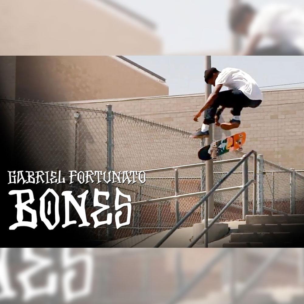 BONES WHEELS (ボーンズ ウィール) から、GABRIEL FORTUNATO のクリップ映像が公開