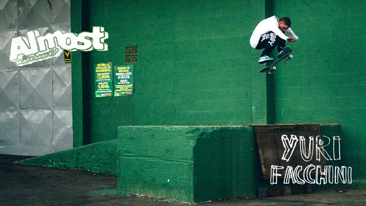 ALMOST(オールモスト スケートボード)YURI FACCHINI 広告