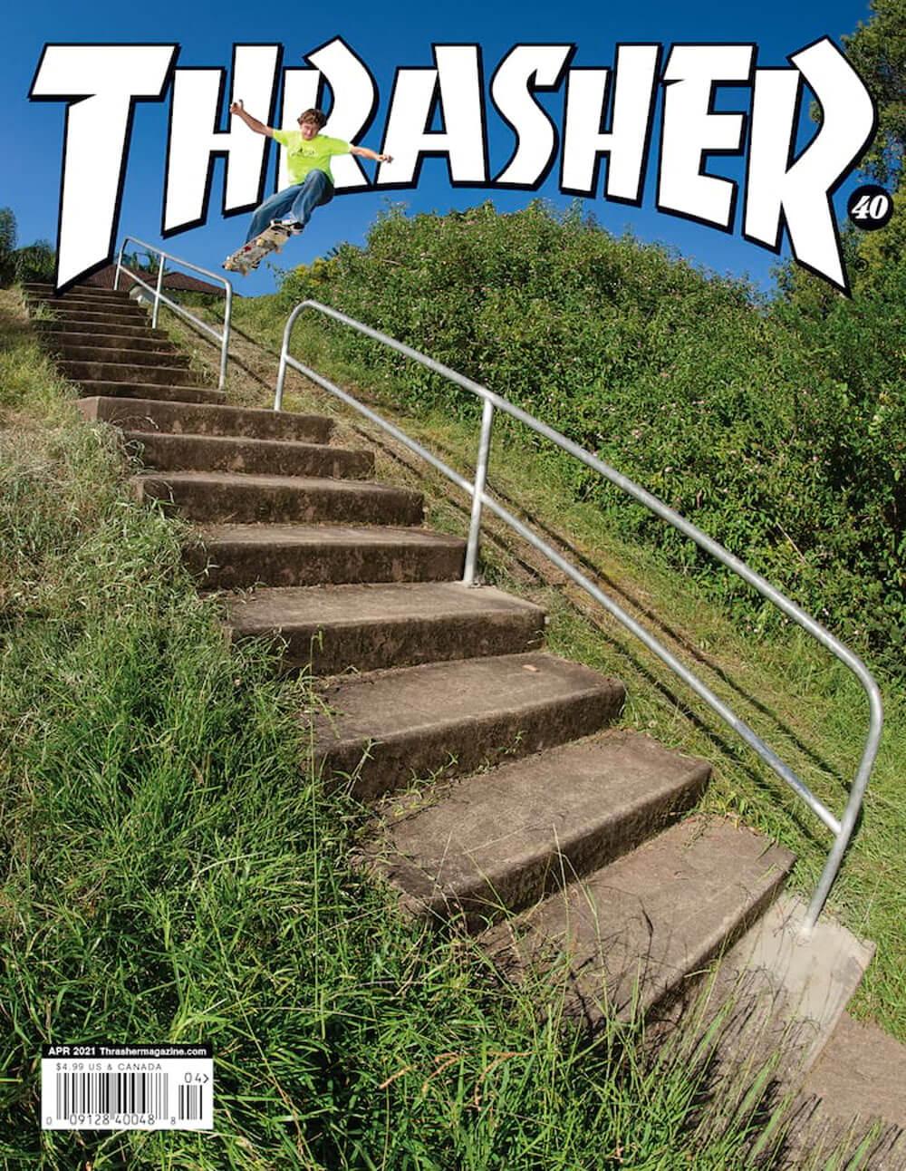 THRASHER MAGAZINE, 2021 APRIL, COVER