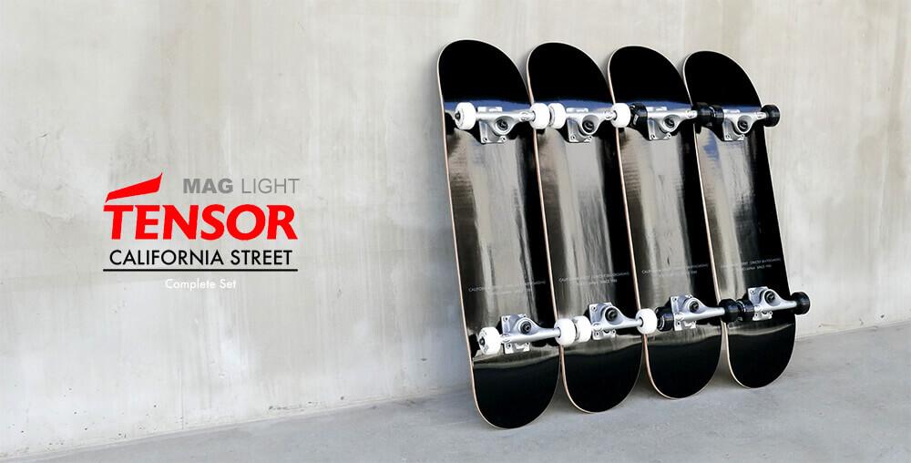 カリフォルニアストリート スケートボード完成品 最軽量モデル TENSOR(テンサー トラック)MAG LIGHT コンプリートセット